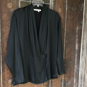 VTG Alfred Sung | Silk Blouse Wrap front